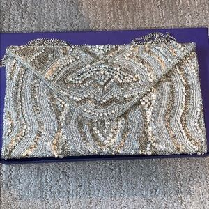 Hand stitched evening bag